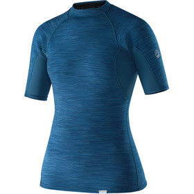 NRS HydroSkin 0.5 Short Sleeve Shirt Women Moroccan Blue